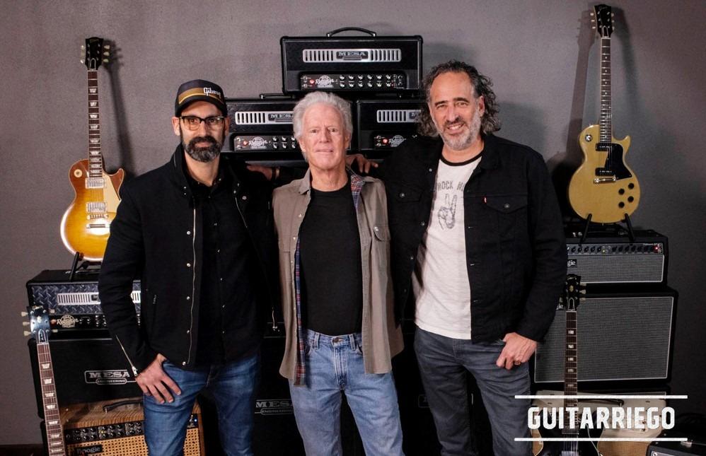 """""""JC"""" Curleigh e CMO argentino, Cesar Gueikian di Gibson, insieme a Randy Smith di Mesa / Boogie."""