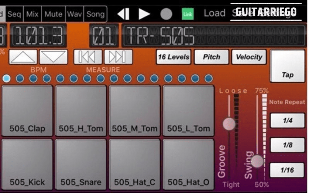 Beat-Machine is a simple drum machine mobile app ideal for guitarists and bassists.