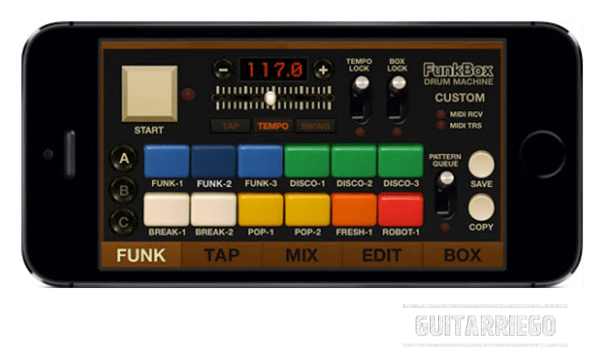 FunkBox, is a classic of the drum machine Apps for iPhone and iPad.