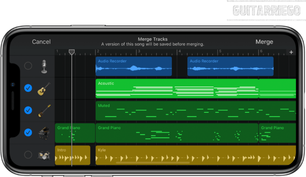 GarageBand transforms your a music studio inside your Apple device
