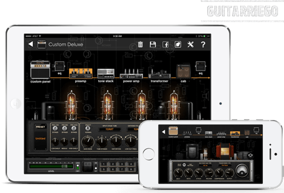 JamUp Pro from Positive Grid, one of the best mobile apps for guitar.