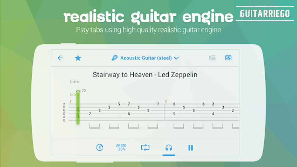 Songsterr Guitar Tabs & Chords, one of the best mobile applications to learn guitar.
