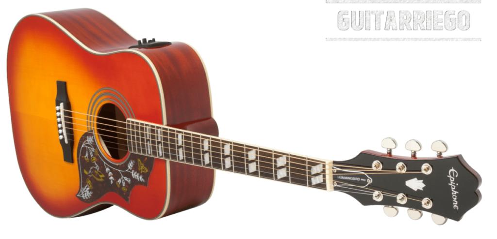 Epiphone Hummingbird Pro, eine der besten Gitarren für Studenten.