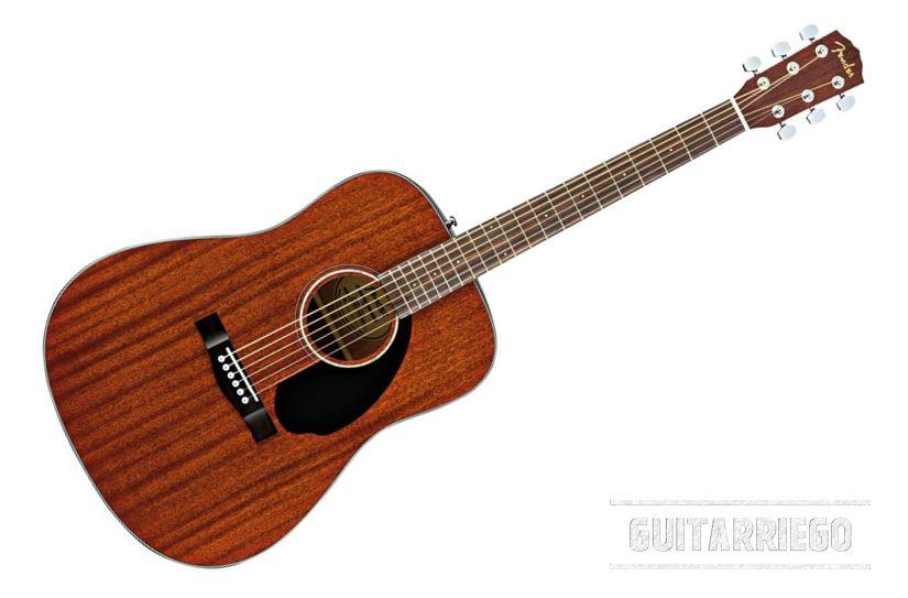 Fender CD-60S All-Mahagoni, eine der besten Akustikgitarren für Anfänger.