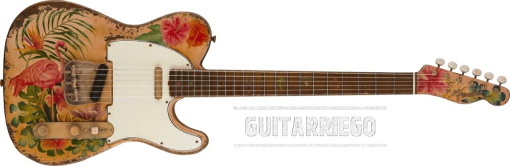 Fender Custom Flamingo Sunset Tele - Vincent Van Trigt
