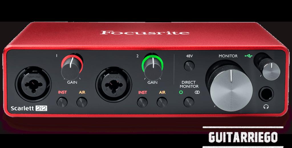 Focusrite Scarlett 212 3rd Generation, l'interface la plus populaire pour les guitaristes.