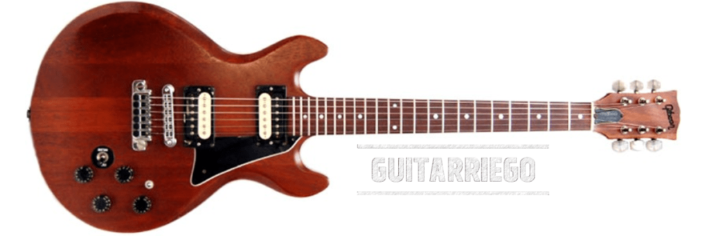 Gibson 335S Custom, la version solid body de la 335, sortie en 1980 et abandonnée en 1981.
