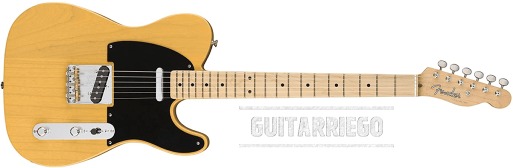 Fender Telecaster Original 50s.  An electric guitar with average weight.
