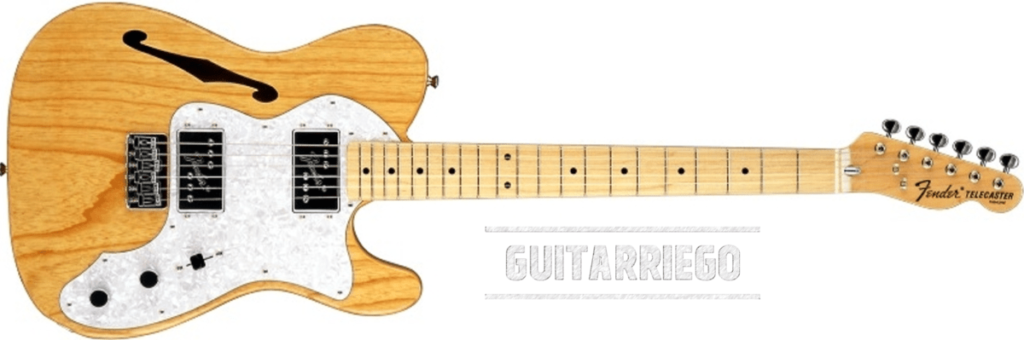 Fender Telecaster Thinline 72, one of the most popular hollowbody guitar of Fender.