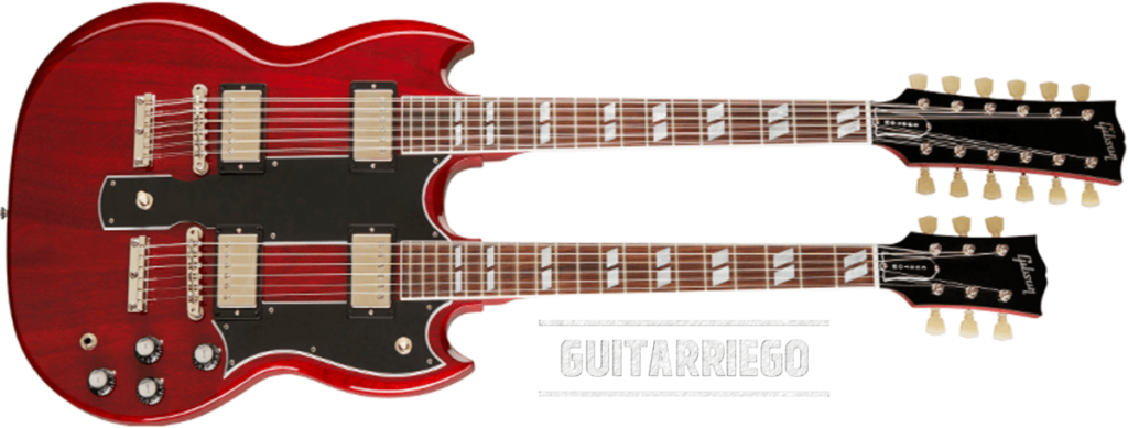 Gibson EDS-1275 Double Neck, the heaviest guitar of our list.