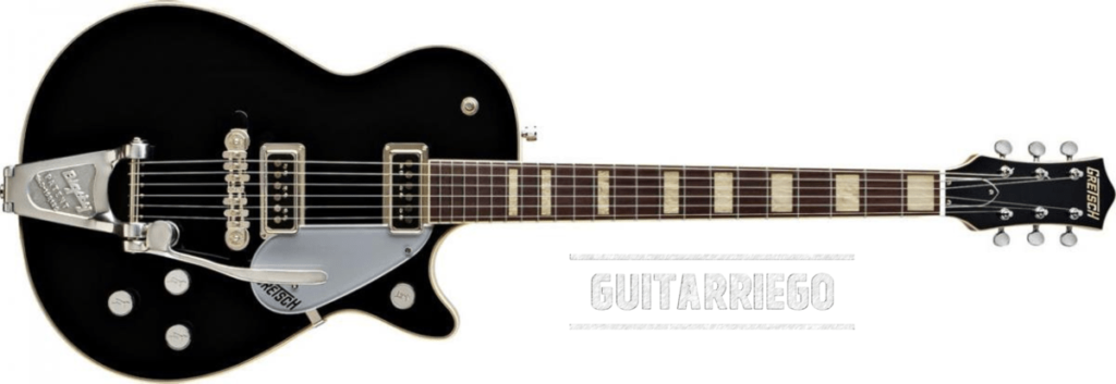 Gretsch Duo Jet, one of the lightest guitars made with mahogany and maple.