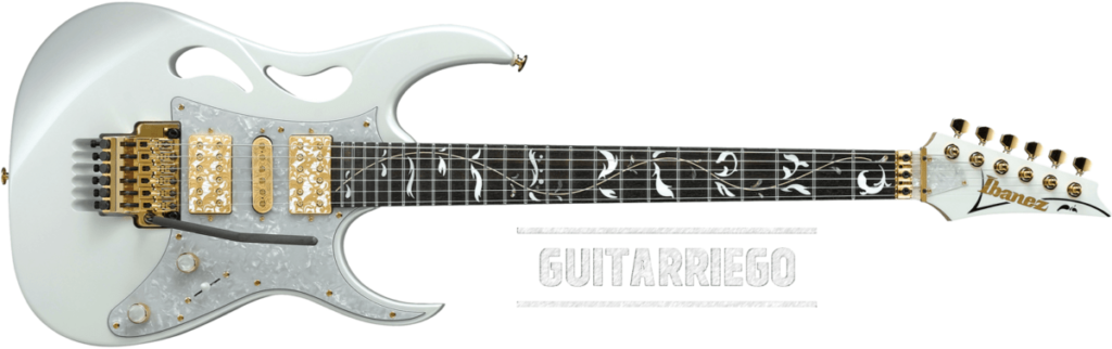 Ibanez Pia, the new Steve Vai guitar, a typical superstrat electric guitar that weighs between