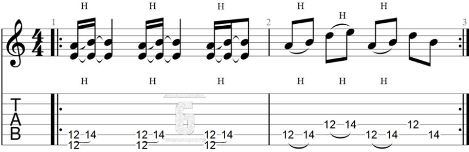 Black Sabbath의 편집증: 초보자를 위한 쉬운 리프 악보.